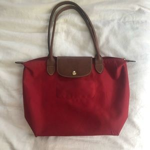 """small red longchamp """"le pilage"""""""